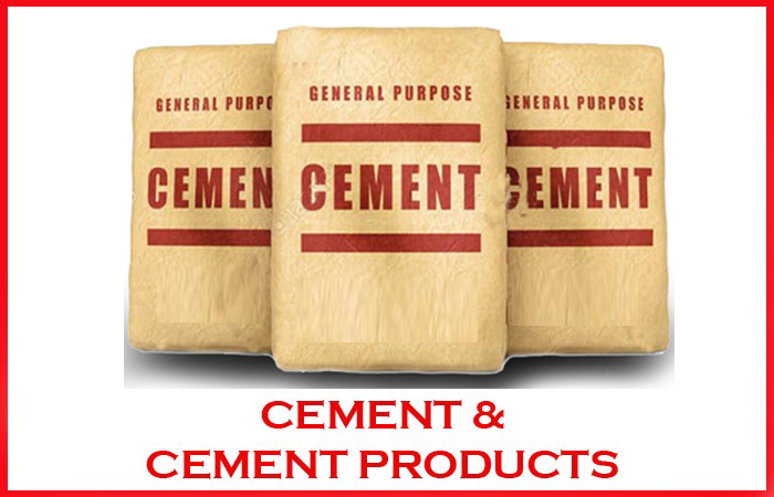 CEMENT & CEMENT PRODUCTS